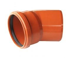 Колено OSTENDORF для наружной канализации 15° Ø 110,160 мм
