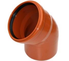 Колено OSTENDORF для наружной канализации 45° Ø 110,160,200 мм