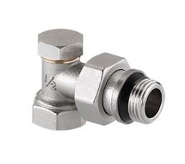 Клапан настроечный угловой с дополнительным уплотнением VT.019.NR