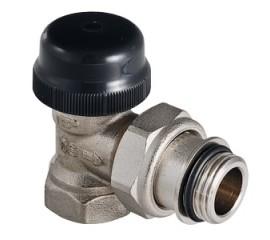 Клапан термостатический угловой с преднастройкой VT.037.N
