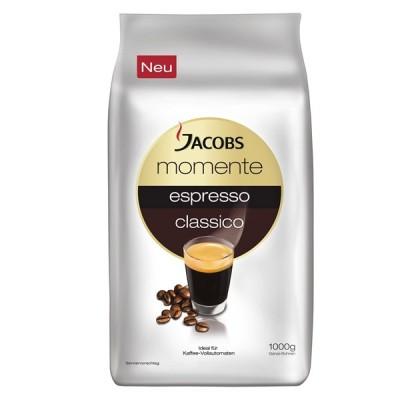 Кофе в зёрнах Jacobs Momente Espresso Classic