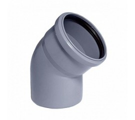 Колено OSTENDORF для внутренней канализации 30° Ø 32,40,50,110 мм